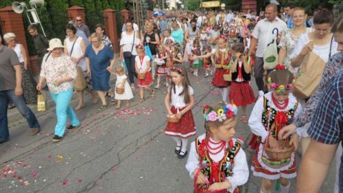 Procesja Bożego Ciała w Krakowie-Łagiewnikach, 20 czerwca 2019