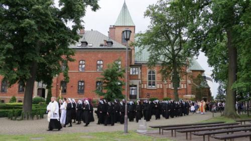 Procesja Bożego Ciała w Sanktuarium Bożego Miłosierdzia, Kraków-Łagiewniki, 11 czerwca 2020