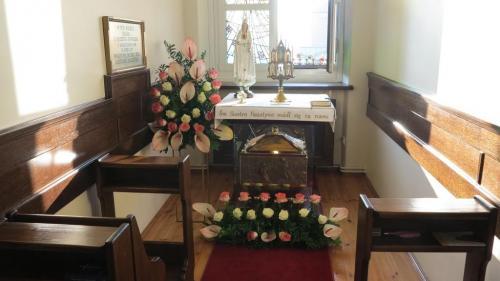 Przy grobie i w celi św. Siostry Faustyny, Kraków-Łagiewniki, 5października 2021-2