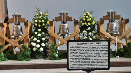 """Poświęcenie """"Dzwonów nadziei"""", Sanktuarium Bożego Miłosierdzia, Kraków, 23 sierpnia. Foto M. Pabis"""