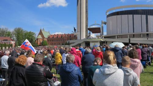 Pielgrzymka katolików z Radiem Lumen ze Słowacji do Sanktuarium w Łagiewnikach, 4 maja 2019