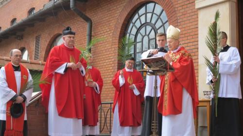 Niedziela Palmowa w Sanktuarium Bożego Miłosierdzia w Krakowie-Łagiewnikach, 14 kwietnia 2019