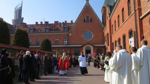 Procesja z palmami, Sanktuarium Bożego Miłosierdzia w Krakowie-Łagiewnikach, 25 marca 2018