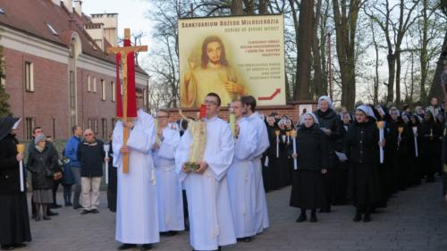 Rezurekcja w Sanktuarium Bożego Miłosierdzia w Krakowie-Łagiewnikach, 21 kwietnia 2019