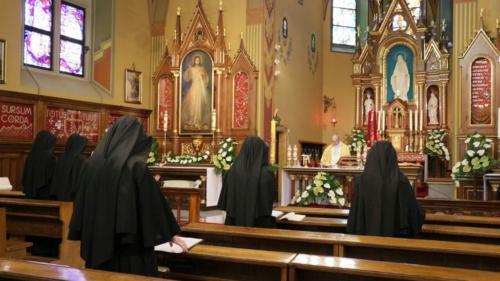 Święto Miłosierdzia w Sanktuarium w Krakowie-Łagiewnikach, 19 kwietnia 2020
