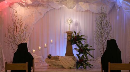 Liturgia Wielkiego Piątku, Sanktuarium Bożego Miłosierdzia, Kraków-Łagiewniki, 2018