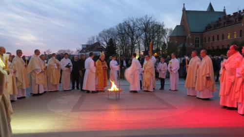Wigilia Paschalna, Sanktuarium Bożego Miłosierdzia w Łagiewnikach, 20 kwietnia 2019