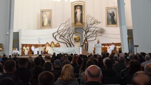 Wielki Czwartek w Sanktuarium Bożego Miłosierdzia w Krakowie-Łagiewnikach, 18 kwietnia 2019